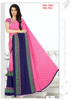 Pink Soft Georgette Wholesale Saree With Blouse