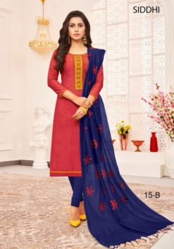 Amarnath Red Color South Cotton Dress Material Code Siddhi 15-B