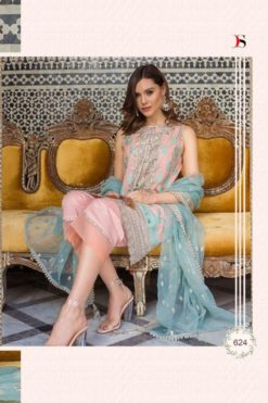 Carey Pink Color Pure Cotton Dress Material Code 624