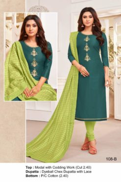 Mineral Green Color Modal Dress Material Code 108-B