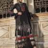 Pure Jam Satin Pakistani Suit Color Black Code 1002